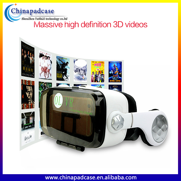 3D Virtual Reality VR box and VR glasses headset ,The Only our own design supply Online VR Box Glasses Mobile Accessories