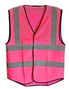 2019 new design workwear reflective safety vest OEM women's pink reflective vest
