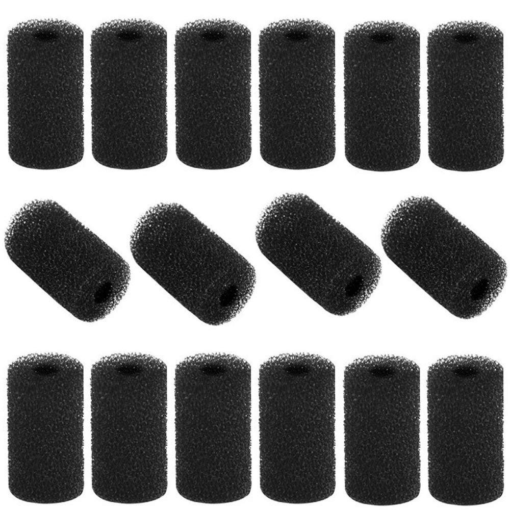 Kaosaike 16 Pack Tail Scrubbers Sweep Hose Tail Scrubber Replacement for Sweep Pool Cleaner Hose Tail Black