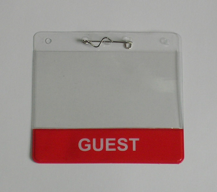 Wholesale Vinyl Transparent Plastic Card Holder, Stock Cheap clear Soft PVC Id Badge Holder