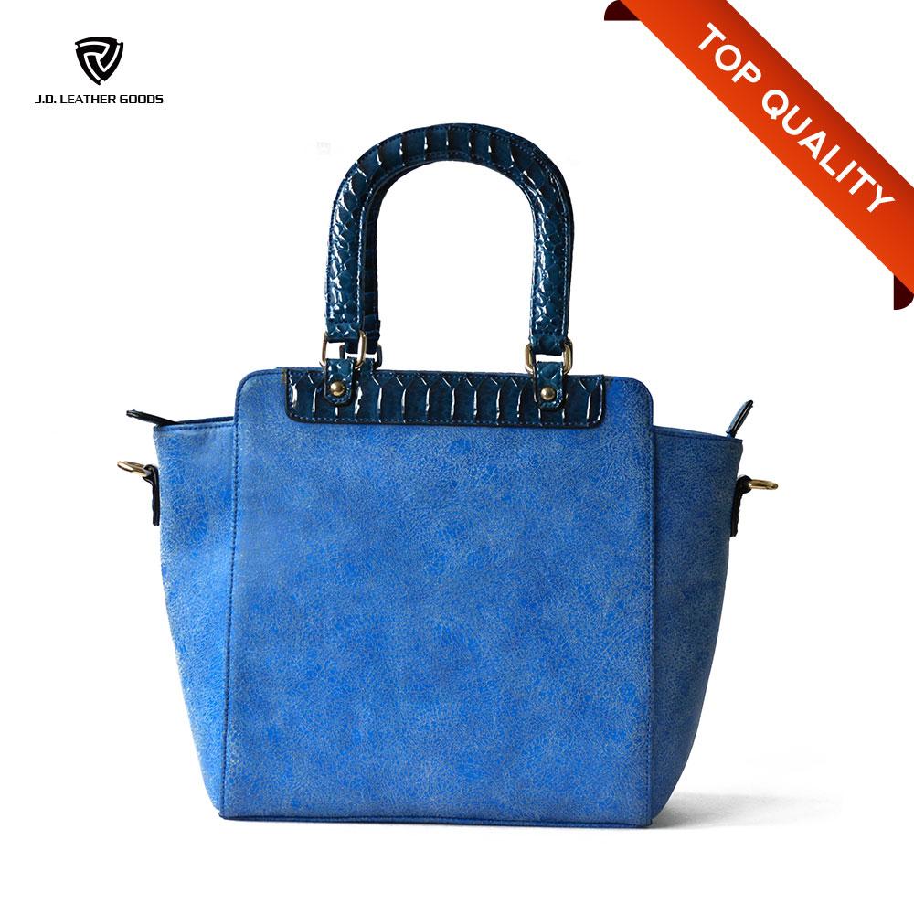 China blue leather ladies handbag wholesale 🇨🇳 - Alibaba 8e2a143cd31e5