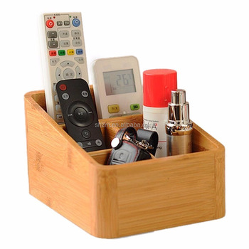 Bamboo Desktop Storage Box Ature Remote Control Controller Tv Guide Mail Cd