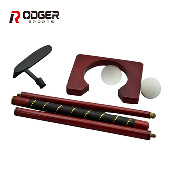 New office mini putting golf gift sets with wooden box