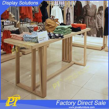 Wooden Cloth Shop Counter Table Design Garment Shop Equipment