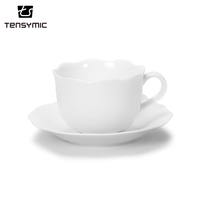 low price simple design wholesale flower shape fine coffee cup chinese tea set