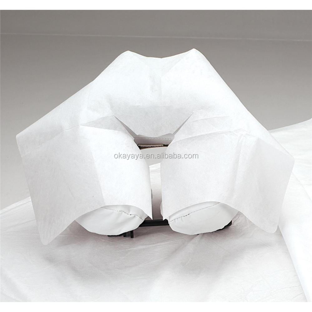 Disposable Neck Pillow Cover Nonwoven U Shape Neck Pillow Cover Disposable Face Rest Cover for Massage Table