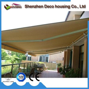2017 hot sale cheap #dx100 light simple outdoor deck awning