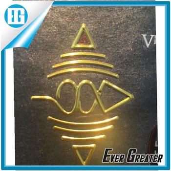 Custom logos custom metal stickercustom cross car emblem 3d sticker embossed metal sticker