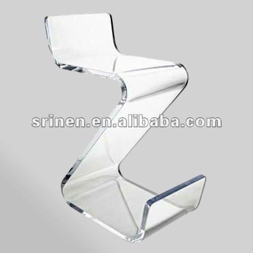 clair acrylique zig zag pr sident lucite z forme chaise en plexiglas plexiglas bar chaises da. Black Bedroom Furniture Sets. Home Design Ideas