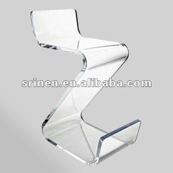 Clear Acrylic Zig Zag Chair,Lucite Z Shape Plexiglass Chair,Perspex Bar  Chairs DA