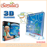 Kids Erasable Magic 3D Flashing Drawing Board with 3D Glasses
