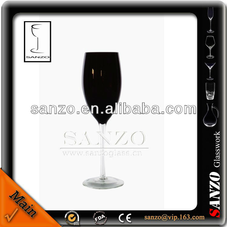 black glass vase champagne