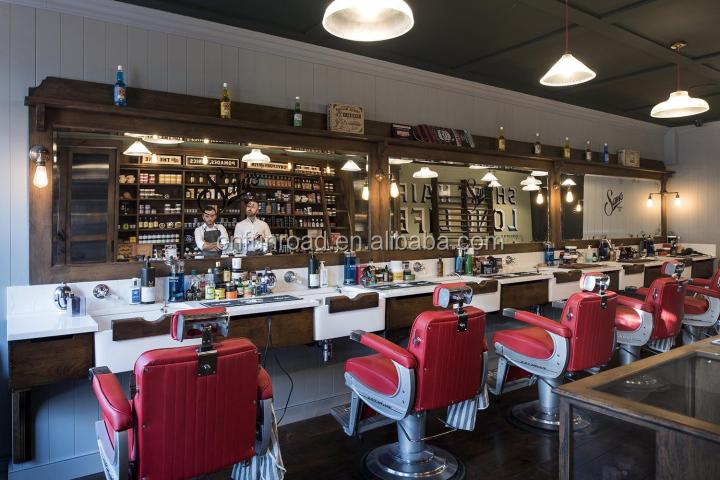 modern barber shop counter cabinets display furniture