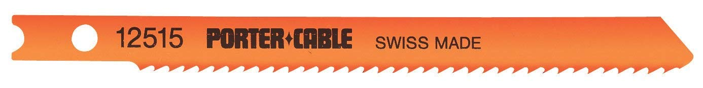 PORTER-CABLE 12515-5 3-5/8 12 TPI Special Purpose Universal-Shank Jig Saw Blade (5-Pack)