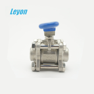 Fully stocked factory supply 3 piece stainless steel ball valve 5 inch cf8 ball valve