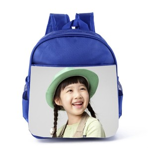 Polyester material sublimation backpack school bag child for print picture and custom logo