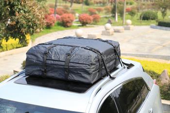 Waterproof Cargo Bag Heavy Duty Tarpaulin SUV Roof Rack Car Top Roofbag Carrier