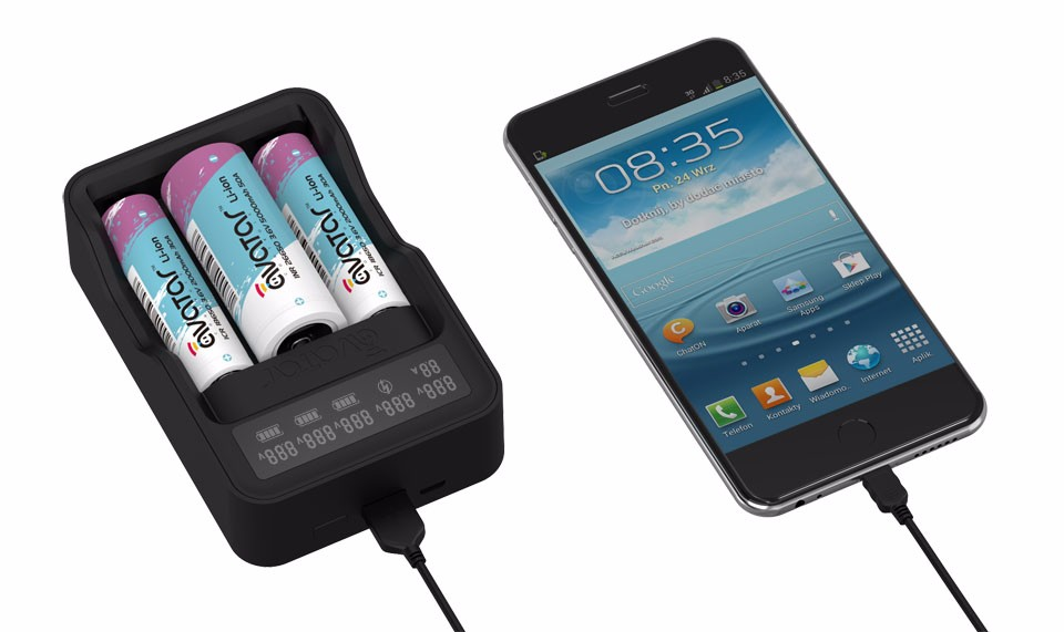 QC2.0 Quick Charger included 18650 battery charger