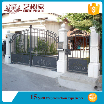 Decorative Garden Entrance Front Modern Laser Cut Gate Design
