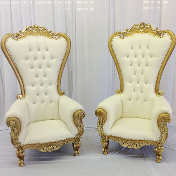 Victorian Style High Back Chair With Gold T Lounge Furniture Living Room