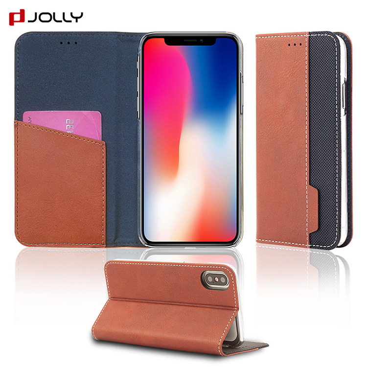 Flip Folio Kickstand Leather Mobile Phone Case <strong>cover</strong> For iPhone x xs mar xr case <strong>cover</strong>