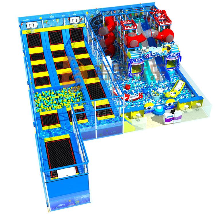Best 잘 팔리는 친환경 상업 트램폴린에 파크 (ocean park) 실 내용 놀이터 와 슬라이드