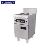 High Quality 12L Double Tank Basket Turkey Chicken Induction Electric Deep Fryer Commercial Kitchen Equipment