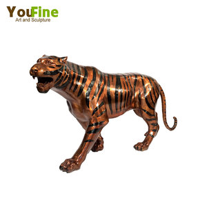 Hot sale Outdoor Bronze Tiger Statue For Garden Decoration