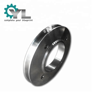 Excavator Lifting Drive Steel Grooved Sheave Rope Pulley