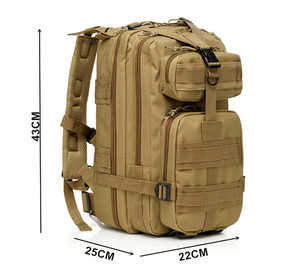9 Colors Level III Medium Transport Army Assault outdoor sports camping hiking bag Military Backpack Tactical
