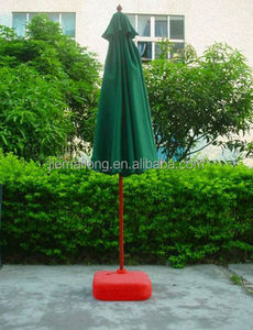Square Teak Wood Market Umbrella