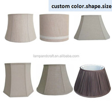 Custom lamp shade Linen fabric With taper Hardback for table lamps shade decoration