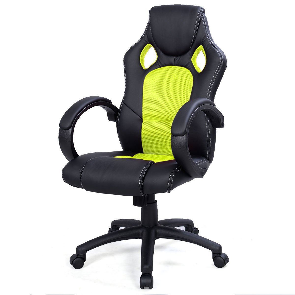 Get Quotations · Best Choice Products Executive Racing Office Chair PU  Leather Swivel Computer Desk Seat High Back