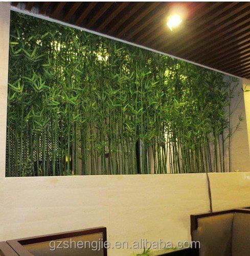Factory hot koop kunstmatige bamboe hek decoratie kunstmatige bamboe stok kunstmatige bomen - Bamboe hek ...
