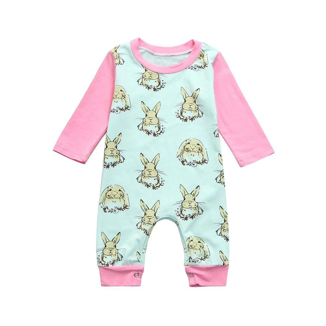 b0a652ea7 Get Quotations · Freshzone Easter Cartoon Rabbit Kids Baby Jumpsuit Clothes  Girls Boys Outfits