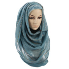 best selling thin stripe dubai head wrap arab muslim jersey hijab with stone scarf shawl 0419005