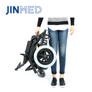 Very cost effective small folding size transport small wheel wheelchair