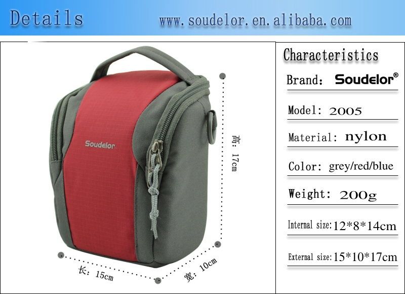 fancy digital dslr camera bag with long shoulder strap