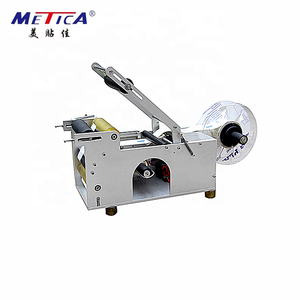 Semi-auto plastic round bottle self adhesive labeling machine and manual label applicator