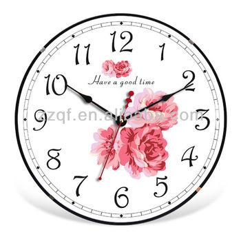 New Home Decoration Modern Kitchen 12u0026quot; Round Plastic Quartz Wall Clocks  Different Types Of Clocks