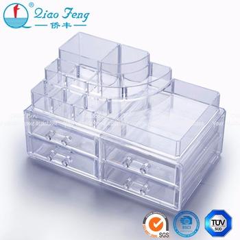 Plexiglass Clear Acrylic Makeup Plastic Organizer Storage Box For Sale