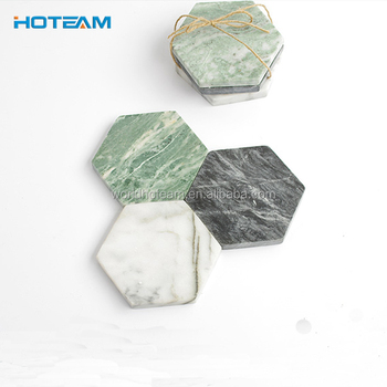 8a5b770db Hexagon Marble Acrylic Cheap Coaster Holder - Buy Coaster Marble ...
