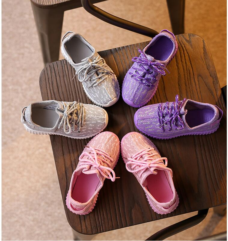 New autumn children mesh sneakers brand design fashion kids sports shoes for girls boys girls princess shoes size 21-25
