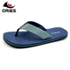 Simple style with canvas upper anti skid casual custom printed flip flops no minimum,custom flip flops sublimation for men