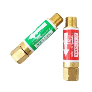 "Check Valve Flame Buster Welding Cutting Oxygen Fuel Acetylene Propane Natural Gas 9/16"" 3/8"" M16 Torch Flashback Arrestor"