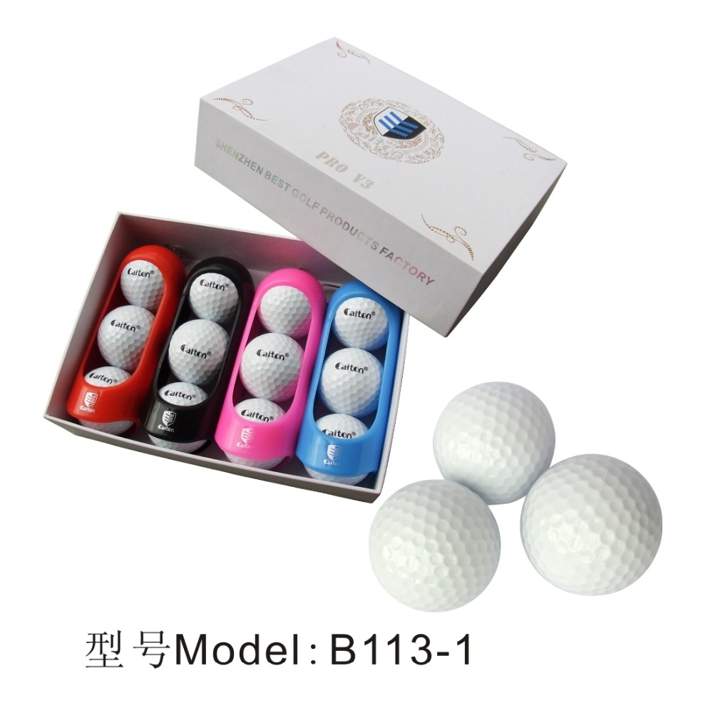 Best Selling Customized Blank White Three Piece Polyster Tournament Golf Ball