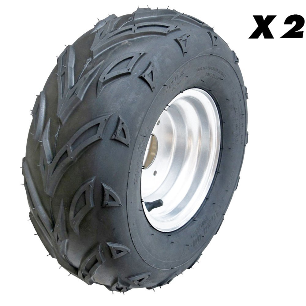 JCMOTO 2pcs ATV Tires 16X8-7 Tubeless Go Kart UTV Quad Bike