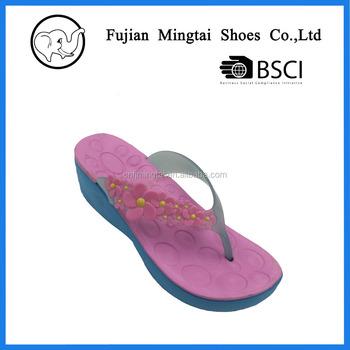 d9959456ab4d31 high heel EVA flip flops PVC strap slipper for ladies
