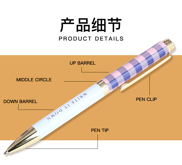 Wholesale metal promo logo ballpoint pen set for business gift or office stationery