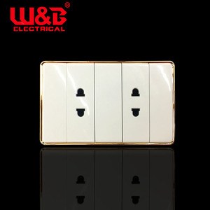 2019 top sell wholesale electric 4 hole 2 socket wall switch